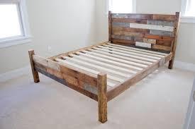 bear log bed frame cool diy wood bed frame
