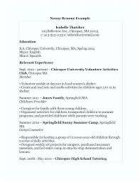 Volunteer Work Resume Examples Resume Sample For Volunteer Work Best Parent Good Nanny