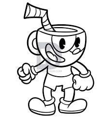 Cuphead Coloring Pictures