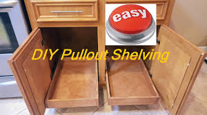 Diy Pull Out Sliding Shelving Easy Youtube