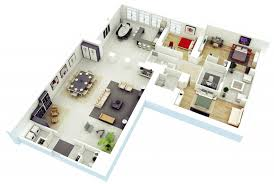 11 25 more 3 bedroom 3d floor plans 3d home design plan chic ideas