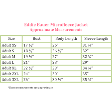 Eddie Bauer Size Chart For Coats Best Picture Of Chart