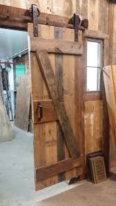 custom made reclaimed barn door z pattern