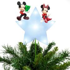 Amazon.com: DISNEY STORE MICKEY & MINNIE MOUSE Lighted CHRISTMAS HOLIDAYS TREE  TOPPER New In Box: Kitchen & Dining