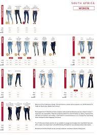 Levi S Misses Jeans Size Chart Levis Denim Size Guide For Women Zando