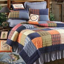 quilt sets simple patchwork quilt set bed with white orange green brown red colored combine
