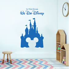children playroom bedroom disney inspired wall sticker we do disney castle mickey mouse