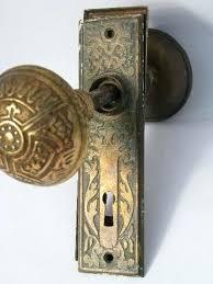 Antique Door Knob Antique Door Hardware Vintage Mercury Silver Glass
