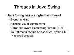 16 threads in java swing