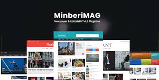 Newspaper Html Template Minberimag Newspaper Editorial Html5 Magazine By Nunforest