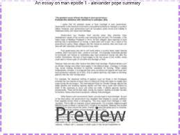an essay on man epistle alexander pope summary college paper  an essay on man epistle 1 alexander pope summary nurses essays online an essay