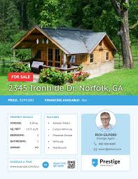 flyer templates examples lucidpress travel real estate flyer template