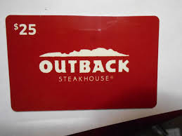 no value collectible memorabilia gift card outback 1 of 1