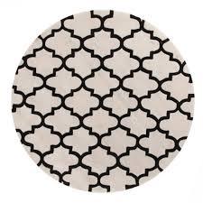 rug culture lattice black white round rug 200 x 200cm
