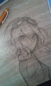 pillow drawing realistic. drawing on the desk.thats awesome and really well done! :) i think it\u0027s supposed to be mozaic role gumi. girl with goggles pillow realistic n