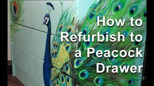 How to refurbish to a <b>Peacock Drawer</b> - YouTube