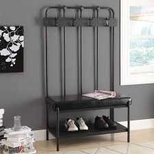 Front Door Bench With Coat Rack Benches Entryway Storage More Lowes Canada Within Front Entry Bench 22