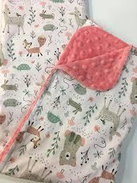 baby blanket c minky nursery
