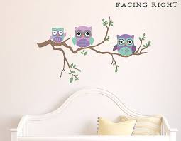 owl wall stickers grasscloth