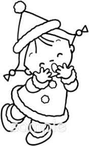 女の子 サンタクロースの衣装イラストなら音楽小学校幼稚園向け