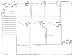 Weekly Planner Sheets Funusual Suspects