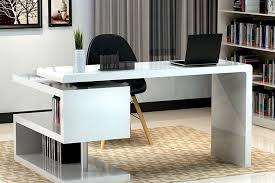 White office table Gloss Modern Wooden Office Table03 Singla Furniture Singla Furniture Modern Wooden Office Table Manufacturer In Punjab