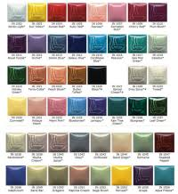 Gare Underglaze Color Chart Seattle Pottery Supply E