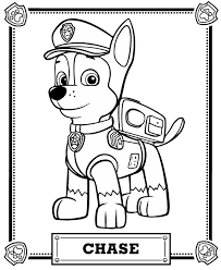 Extraordinary Pawpatrol Coloring Pages Chase Portrait Free Page