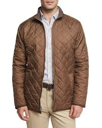 Peter millar Chesapeake Lightweight Quilted Jacket in Brown for ... & Gallery Adamdwight.com