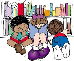 Image result for children reading books in the library clipart