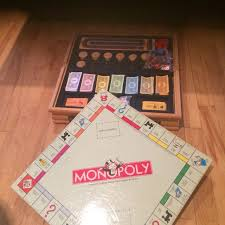 Wooden Monopoly Board Game Find more Wooden Deluxe Lot Of Board Games Monopoly Sorry Cribbage 74