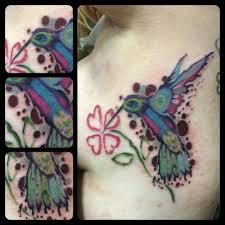 цветная тату растения цветы на торс спину бок голову руку для