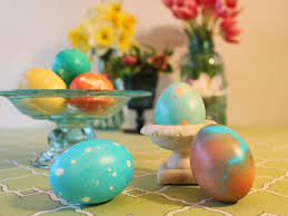 marbleized dyed easter eggs