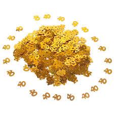 <b>QIFU Gold</b> Digitals Figures Paper Confetti Happy <b>Birthday Party</b> ...