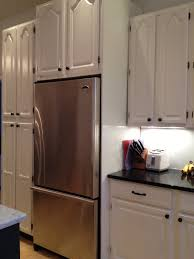 Custom Builtin Refrigerator Nook Created For New Counter Depth - Kitchen refrigerator