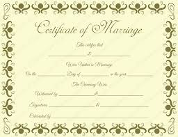 Marriage Certificate Templates Printable Certificate Designs