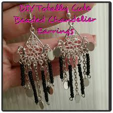 Diy Bead Chandelier Diy Totally Cute Beaded Chandelier Earrings Youtube