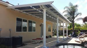 patio cover gives protection from the elements but also allows light to come through the best of both worlds for more information just call