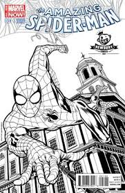 Great collection of free spiderman coloring pages! Amazing Spider Man 1 B W Kevin Nowlan Exclusive Cover Spiderman Comic Newbury Comics Spiderman