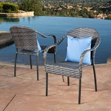 Sunset Outdoor Tight-weave Wicker Chair (Set of 2) by Christopher Knight  Home - Free Shipping Today - Overstock.com - 14296313