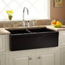 Black Apron Front Kitchen Sink 33 Fiammetta Double Bowl Fireclay Farmhouse Sink Belted Apron