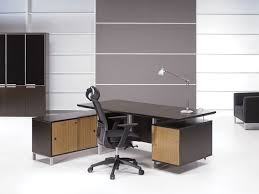 architecture awesome modern home office desk design. Architecture: Amazing Office Furniture With Stylish Executive Black Glass Desk And White Leather Architecture Awesome Modern Home Design