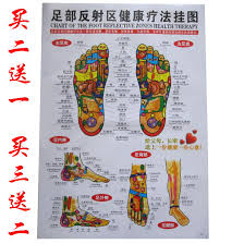 Usd 5 46 Human Meridian Acupuncture Chart Foot Reflection