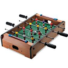 Miniature Wooden Foosball Table Game 100 popular sale mini 100 Tabletop set Soccer Foosball Table Game 3
