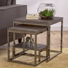 nesting end tables. philippos 2 piece nesting tables end