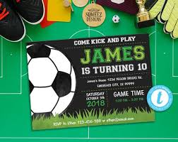 Soccer Party Invitation Template Soccer Invitation Soccer Birthday Invitation Soccer Party Instant Download Editable File Templett