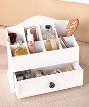 makeup organizer wood. white wooden versailles cosmetic organizer with drawer 12-1/2\ makeup wood m