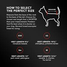 Service Dog Vest Size Chart Predator Vest Puncture Resistant Pet Armor Deters Coyote Attacks