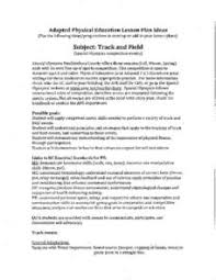 Pe Lesson Plan Adaptive Physical Education Lesson Plans Worksheets