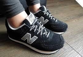 new balance girls. 2014 new balance wl574xga x-girl brogue stars black grey womens sneakers girls \